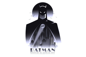 Batman Welcome To Gotham City Minimal 4k
