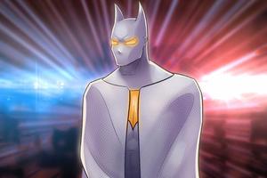 Batman White Gold Suit 4k Wallpaper