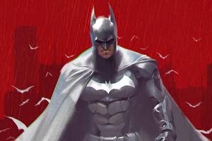 Batman White Suit 5k Wallpaper