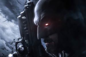 Batman With Gun 4k 2020 Wallpaper