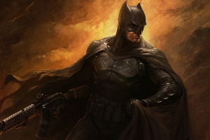 Batman With Gun 4k