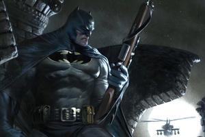 Batman With Gun Artwork 4k