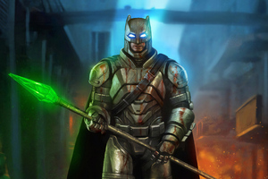 Batman With Krypton Sword Wallpaper