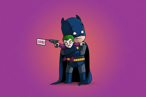 Batman With Little Joker Bang