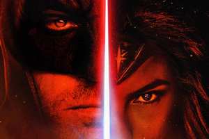 Batman Wonder Woman Star Wars Style Fan Art