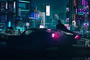 Batman X Cyberpunk 4k Wallpaper