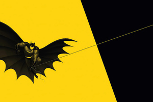 Batman Yellow 4k Wallpaper