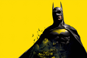 Batman Yellow Background Wallpaper