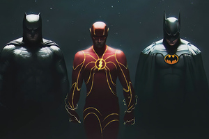 Batmans And Flash 4k Wallpaper