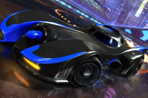 Batmobile Rocket League Dlc 4k Wallpaper