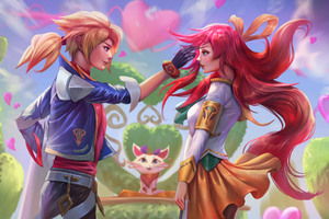 Battle Academy Ezreal And Lux League Of Legends 5k Wallpaper