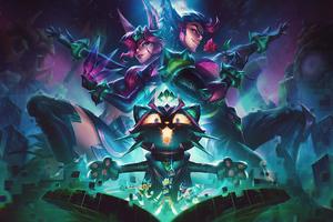 Battle Boss Xayah Rakan And Yuumi League Of Legends Wallpaper