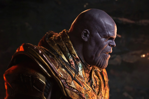 Battle Damaged Thanos Wallpaper