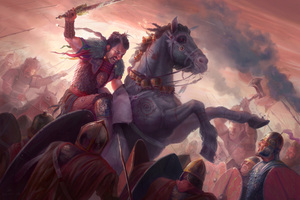 Battle Horse Warrior Artwork
