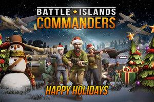 Battle Island Commanders Happy Holidays Wallpaper