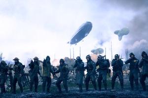 Battlefield 1 Soldiers Zeppelin Army Guns 4k Wallpaper