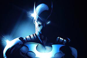 Batwing Blue Colour Art 4k