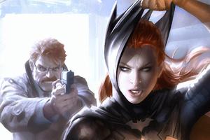 Batwoman Caught Wallpaper