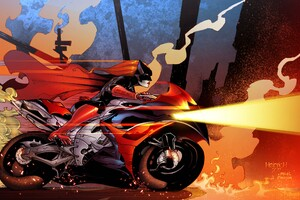 Batwoman Driving Bike 5k Artwork