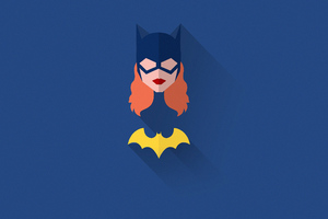 Batwoman Minimal Art Wallpaper