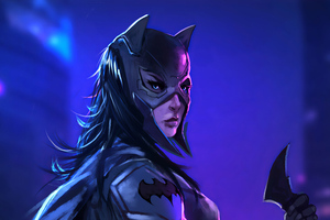 Batwoman Sketch Artwork Wallpaper
