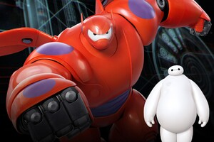 Baymax In Big Hero 6 Movie Wallpaper