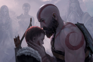 Be Safe Son God Of War 4 Wallpaper