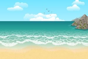 Beach Illustration Wallpaper