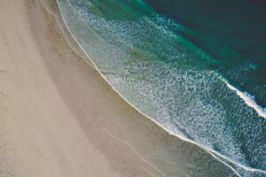 Beach Sand Sea Water Wallpaper