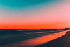 Beach Sunset 5k Wallpaper
