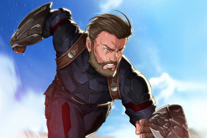 Beard Captain America Wallpaper