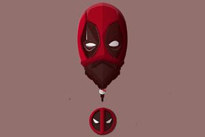 Bearded Deadpool Minimalism Wallpaper