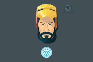 Bearded Iron Man Minimalism
