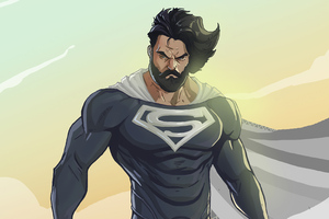 Bearded Superman Wallpaper