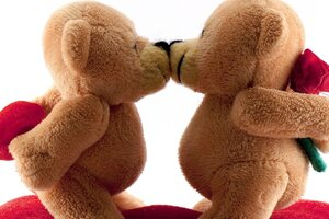Bears Kissing