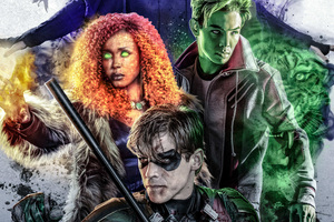 Beast Boy And Starfire In Titans 2018