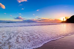 Beautiful Beach Sunset 4k Wallpaper