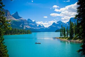 Beautiful Clear Blue Lake Wallpaper