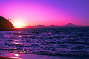 Beautiful Evening Purple Sunset 4k Wallpaper