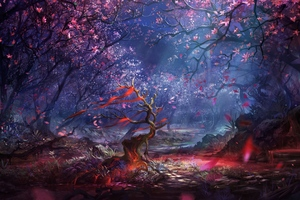 Beautiful Forest Art Wallpaper