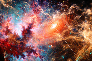 Beautiful Galaxy Fractal Art