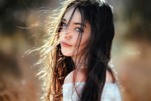 Beautiful Girl Hair In Face 4k Wallpaper