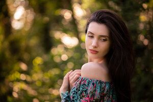 Beautiful Girl Looking Back 5k Wallpaper