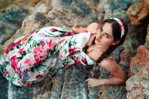 Beautiful Girl Rocks 4k Wallpaper