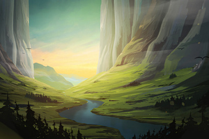 Beautiful Landscape Morning 5k Wallpaper