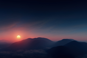 Beautiful Morning Sunrise Contour 8k Wallpaper