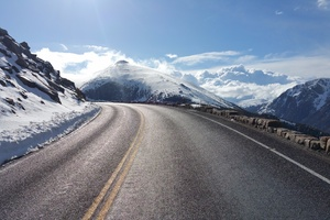 Beautiful Mountain Road Wallpaper