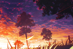 Beautiful Sunset Art Wallpaper
