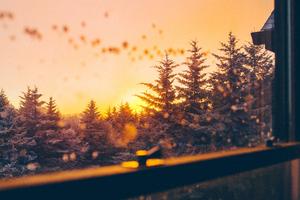 Beautiful Winter View From Window 5k Wallpaper