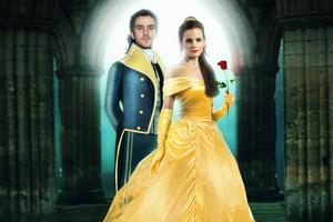 Beauty And The Beast Dan Stevens Emma Watson Wallpaper